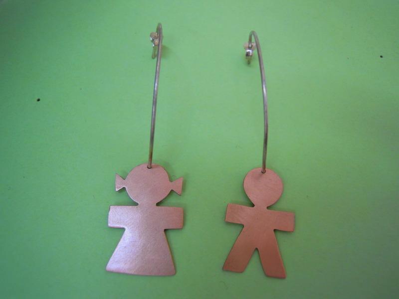Girl And Boy Hoop Earrings