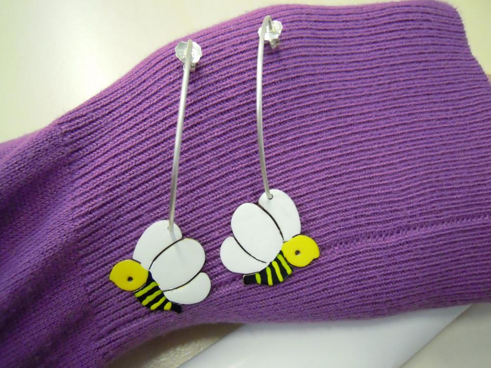 Bees Hoop Earrings